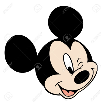 Mickey Mouse Head Character Cartoon Winking Eye Illustration Stock ... png image transparent background