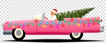 Christmas Car Cadillac Sexy Girl - Free image on Pixabay png image transparent background