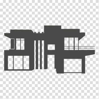 Modern house silhouette 1 - Transparent PNG & SVG vector png image transparent background