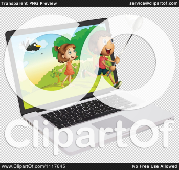 Technology Vector Clipart Boy Girl And Butterfly Net Emerging From ... png image transparent background