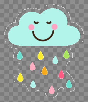Cloud Cool Rain Drops Clip Art Cute Happy With Colorful Png - AZPng png image transparent background