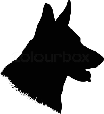 German shepherd dog head, black and ... | Stock vector | Colourbox png image transparent background