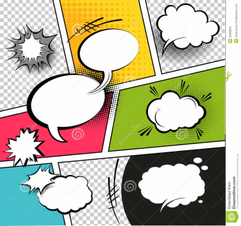 Comic Strip Speech Bubbles stock vector. Illustration of graphic ... png image transparent background