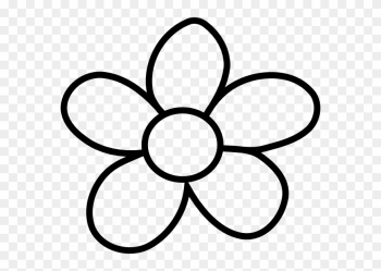 Gallery Of Clip Art Flower Black And White Clipart - Flowers ... png image transparent background