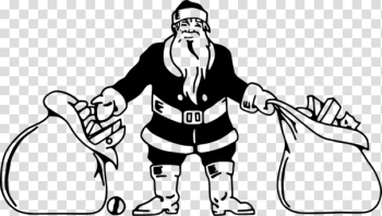 Santa Claus Black and white Christmas Day Christmas tree Santa ... png image transparent background