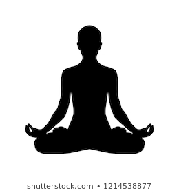 Yoga Lotus Position Silhouette Vector Shape Stock Vector (Royalty ... png image transparent background