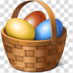 Easter Basket Bunny Picture png image transparent background