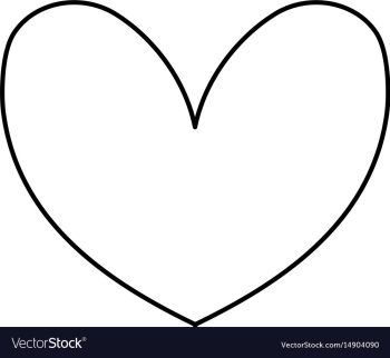 Line cute heart to love symbol design Royalty Free Vector png image transparent background