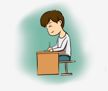 School Starts Primary School Student Writing Homework Primary ... png image transparent background