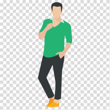 Good looking man, human avatar, male model, modeling pose ... png image transparent background