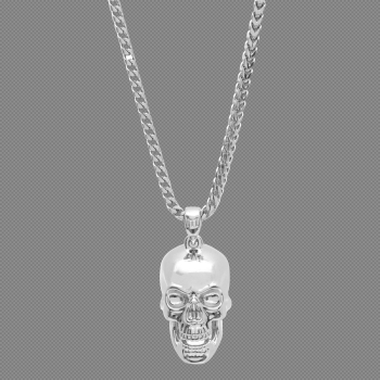Skull Necklace - White Gold – Marcozo png image transparent background
