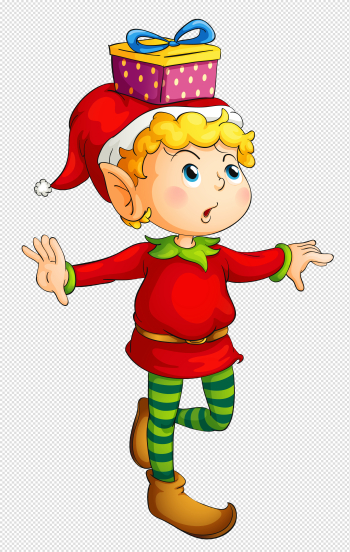 Christmas Elf with Gift PNG Picture | Gallery Yopriceville - High ... png image transparent background
