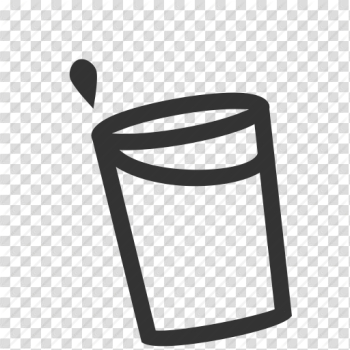 Cup, drop, spill, water icon png image transparent background