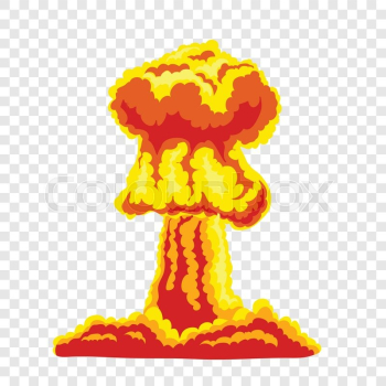 Mushroom cloud. Orange and red ... | Stock vector | Colourbox png image transparent background