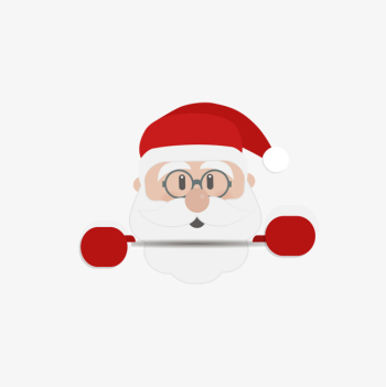 Cartoon Santa Claus Wearing Reading Glasses Vector Material ... png image transparent background