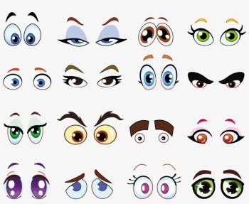 Eyeball Clipart Square Eye - Child Cartoon Eyes - 2560x1974 PNG ... png image transparent background