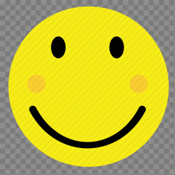 Emoticon, happy, shy, smile, smiley, vintage, yellow icon png image transparent background
