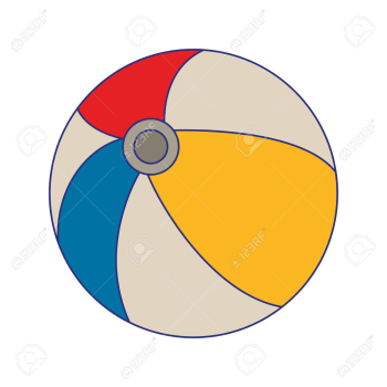 Beach Ball Cartoon Isolated Vector Illustration Graphic Design ... png image transparent background