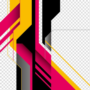 Geometric shape Abstract art, abstract shapes, multicolored ... png image transparent background