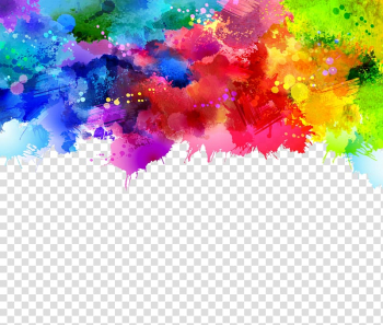 Watercolor painting, Graffiti background, pink, green, and blue ... png image transparent background