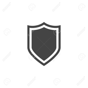 Shield Vector Flat Icon, Silhouette. Guard Logo. Royalty Free ... png image transparent background