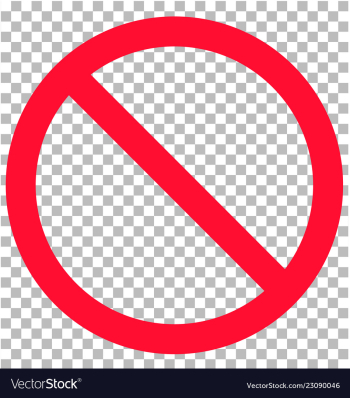 No sign isolated on transparent background flat Vector Image png image transparent background