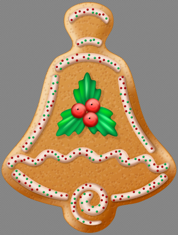 Christmas Cookie Bell Transparent PNG Clip Art Image | Gallery ... png image transparent background