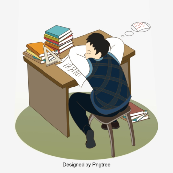 Creative Hand-painted Scenes Student Sleeping, Cartoon, Boy ... png image transparent background