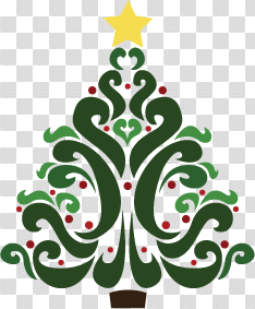 Free Christmas Tree Clipart - would make a great rug hooking ... png image transparent background