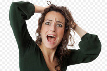 Psychological stress Woman Health Panic attack - women hair png ... png image transparent background