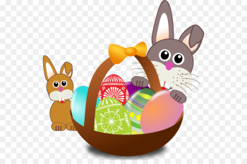 Easter Bunny Easter basket Egg hunt Easter egg - Easter Cliparts ... png image transparent background
