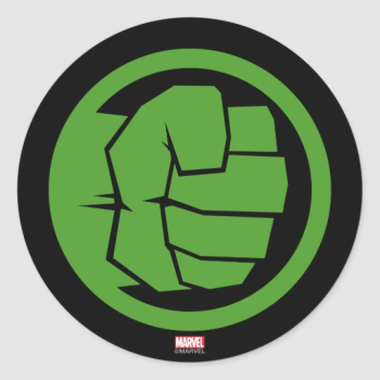 Incredible Hulk Logo Classic Round Sticker | Zazzle.com png image transparent background