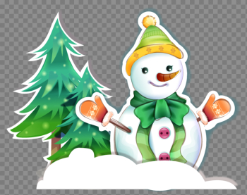 Snowman Material Vector Tree Christmas Free Clipart HQ png image transparent background