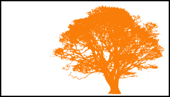 Tree, Dark Orange Silhouette, White Background Clip Art at Clker ... png image transparent background