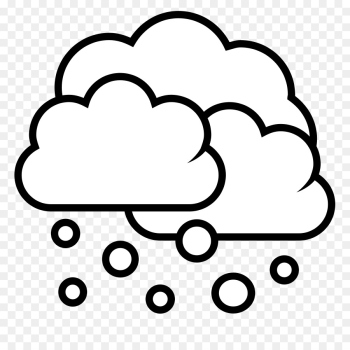 Snow Cloud PNG Black And White Transparent Snow Cloud Black And ... png image transparent background