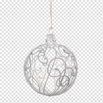 Christmas ornament Rothenburg ob der Tauber Glass Käthe Wohlfahrt Silver, glass transparent background PNG clipart png image transparent background