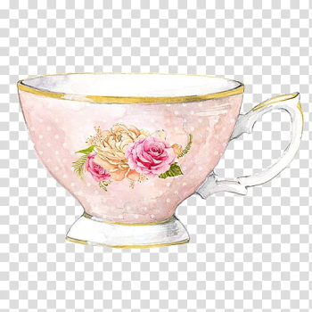 Flowering tea Tea party Watercolor painting, tea transparent background PNG clipart png image transparent background