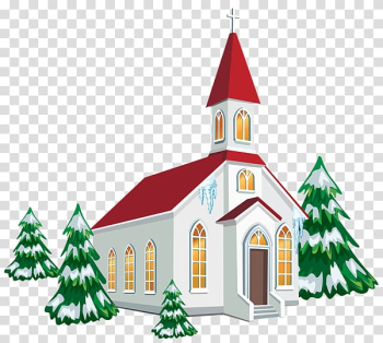Church service Christmas Chapel , Painted snow house transparent background PNG clipart png image transparent background