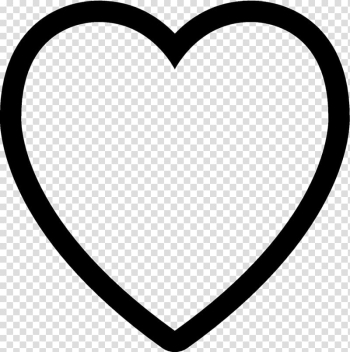 Heart Symbol Computer Icons Black and white , heart transparent background PNG clipart png image transparent background