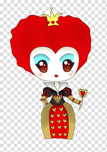 Red Queen Queen of Hearts Alice Cheshire Cat, Chibi transparent background PNG clipart png image transparent background