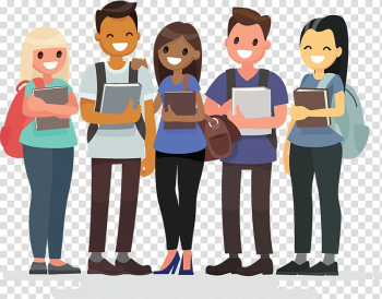 Illustration of people holding books, Student group Student society, student transparent background PNG clipart png image transparent background