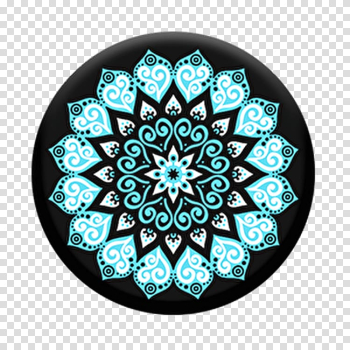 PopSockets Grip Stand Mandala Mobile Phones Amazon.com, watercolor mandala transparent background PNG clipart png image transparent background