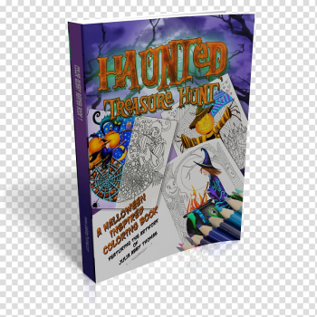 Haunted Treasure Hunt: A Halloween Inspired Coloring Book Trucks Coloring Book Amazon.com Book cover, book transparent background PNG clipart png image transparent background