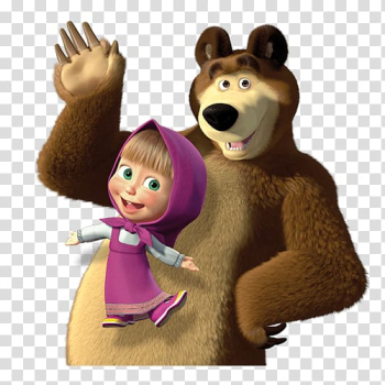 Masha and the bear, Masha and the Bear Party Birthday, bear transparent background PNG clipart png image transparent background