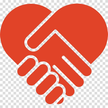 Red heart , Computer Icons Heart Handshake Symbol, shake hands transparent background PNG clipart png image transparent background