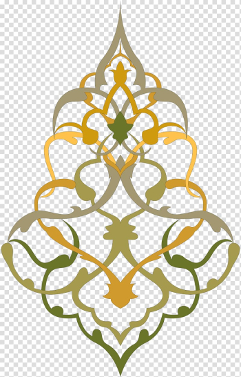Islamic art Ornament Islamic geometric patterns, islamic, brown and green floral transparent background PNG clipart png image transparent background