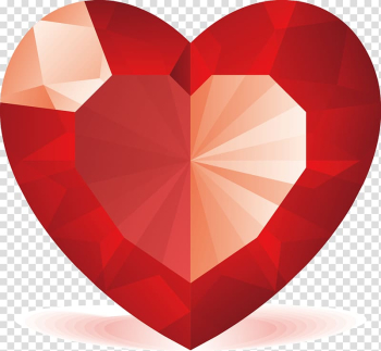 Heart Gemstone Symbol Emoticon Valentines Day, Red heart-shaped diamonds transparent background PNG clipart png image transparent background
