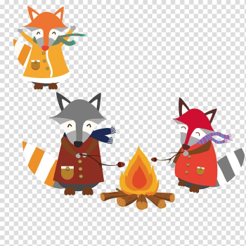 Cartoon , Lovely fox transparent background PNG clipart png image transparent background