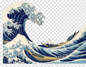 Seawaves painting, The Great Wave off Kanagawa Painting TARDIS AllPosters.com, Beautifully painted waves boat people transparent background PNG clipart png image transparent background