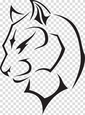 Animal , Black panther Cougar Drawing , Of Wild Animals Only Outline transparent background PNG clipart png image transparent background